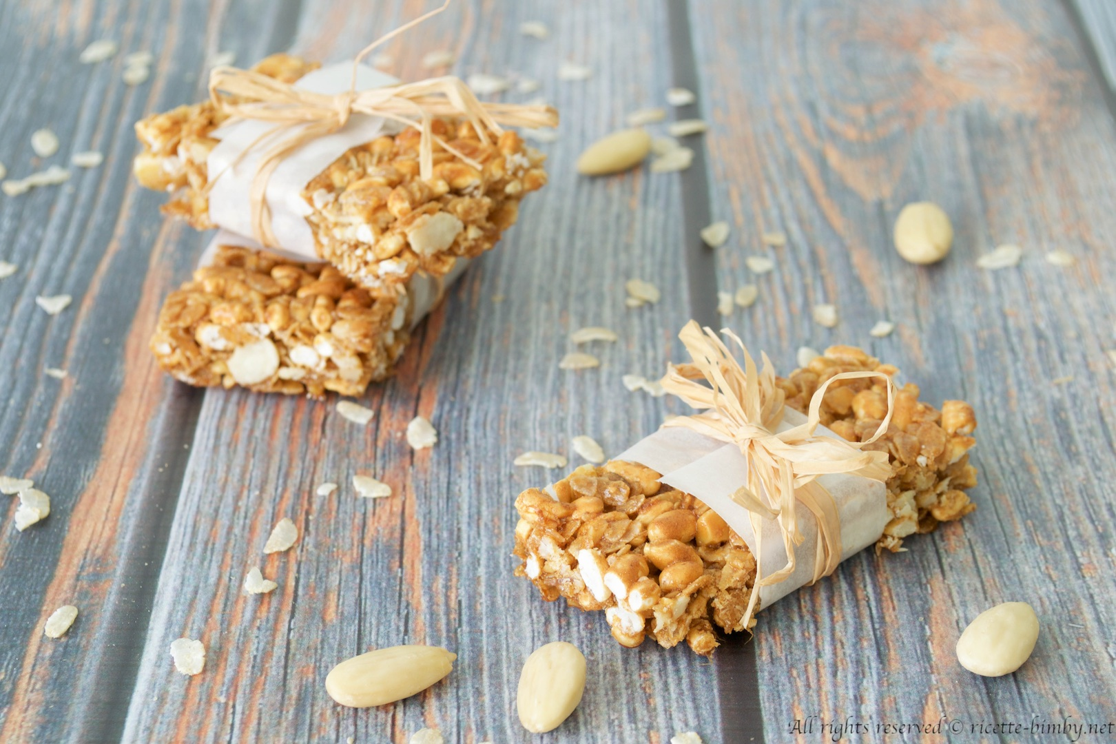 Thermomix oat and puffed rice bars