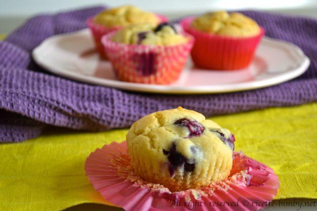 Muffin ai mirtilli senza glutine Bimby