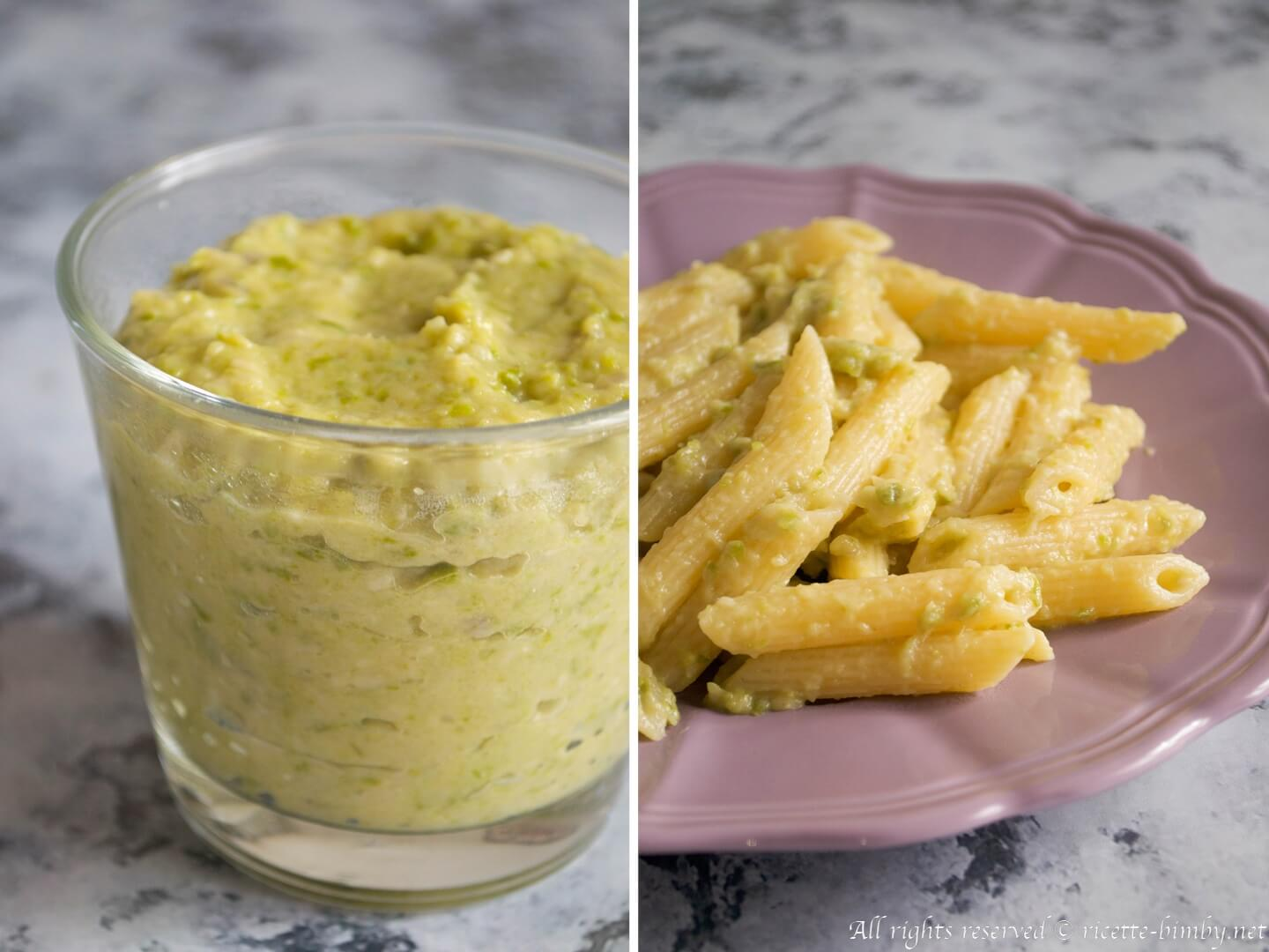 Thermomix Pasta with zucchini cream