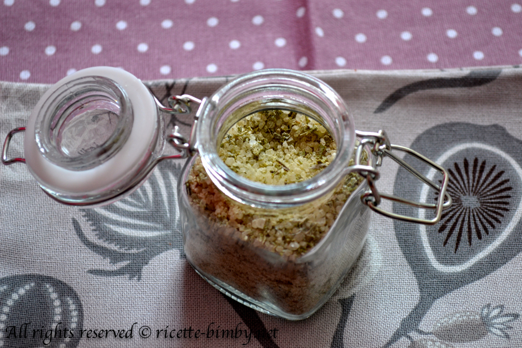 Thermomix Flavored salt with herbs