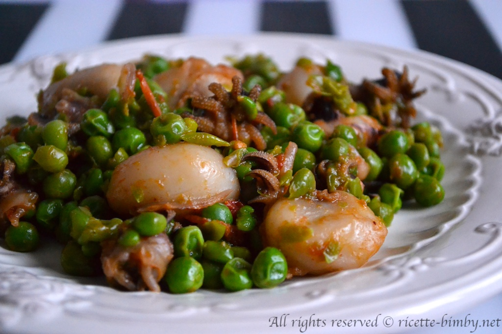Thermomix Cuttlefish and peas
