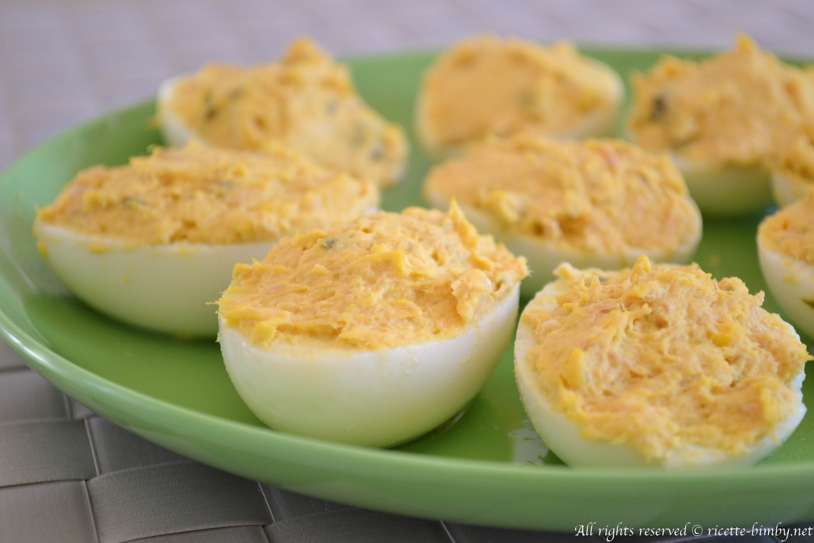 Thermomix Tuna deviled eggs